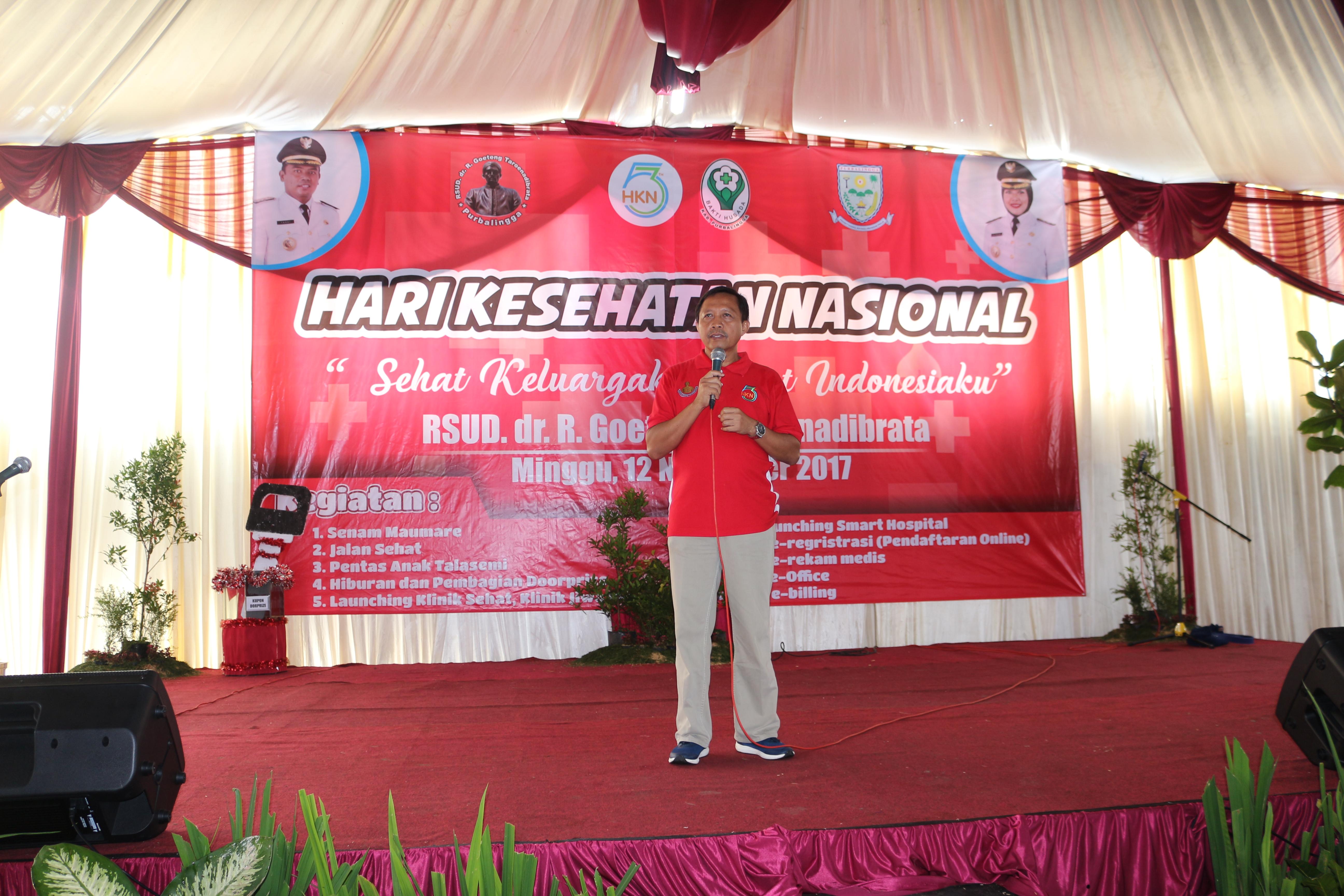 Acara HKN di RSUD dr R Goeteng Taroenadibrata dan Jalan Sehat purbalingga tahun 2017