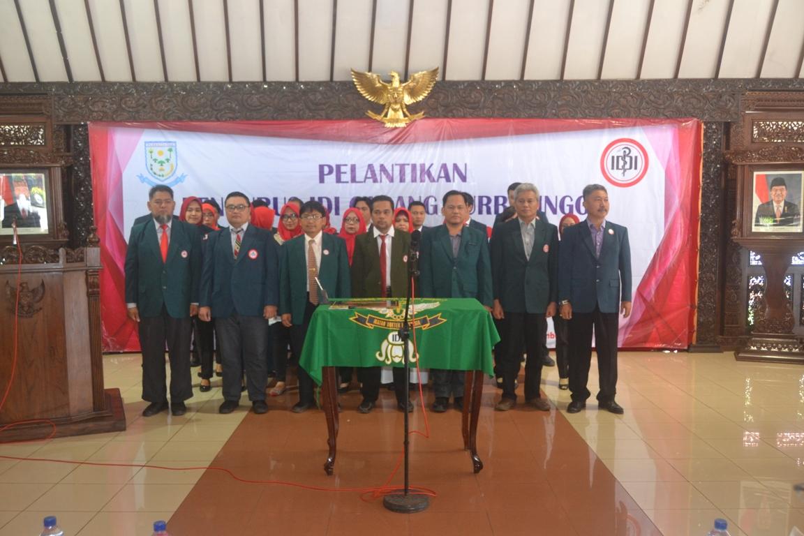 Pengurus IDI Cabang Purbalingga Periode 2018 – 2021 Dilantik