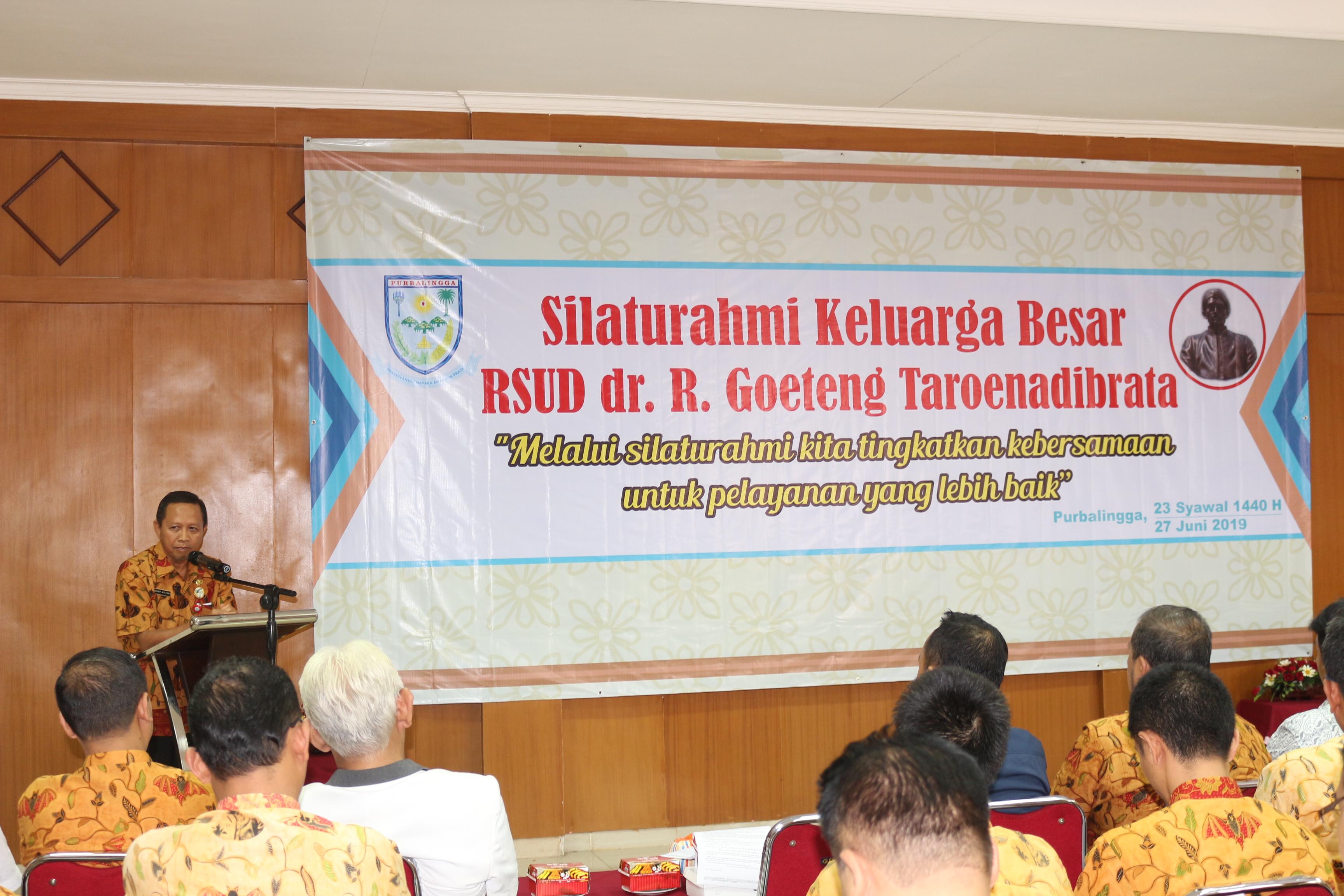 Silaturahmi keluarga besar RSUD dr R Goeteng Taroenadibrata tahun 2019